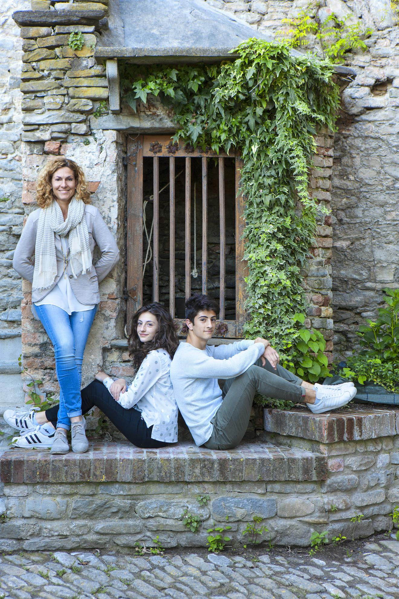 Owner Patrizia Brambilla with Family